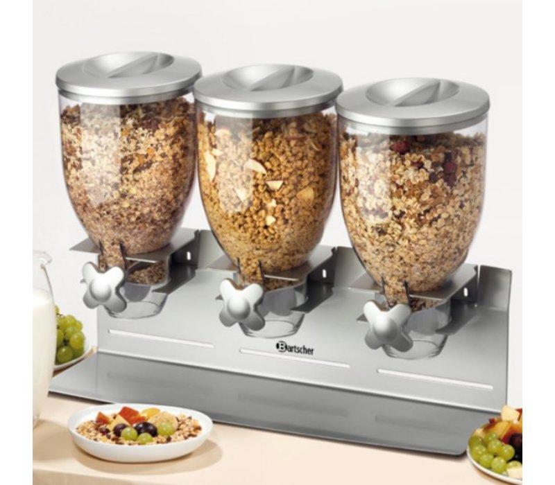 Bartscher 3x Breakfast Gran Dispenser | Capacity 3.5 Liter | 540x170x (H) 395mm