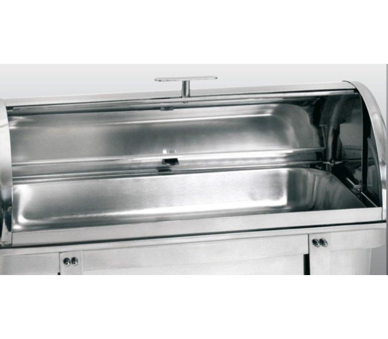 Bartscher Chafing Dish | 1/1 GN | Mit Rolltop Deckel | Deluxe | 620x350x (H) 430mm