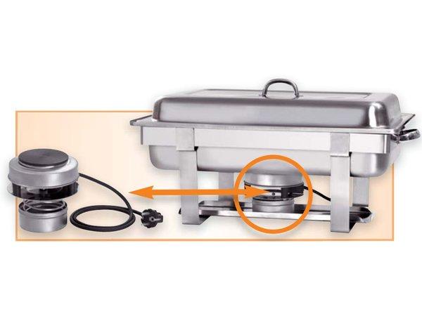 Bartscher Elektro Chafing Dish | Chromnickelstahl | 1/1 GN | Inkl. Durchlauferhitzer | 610x350x (H) 320mm
