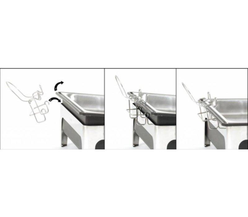 Bartscher Elektro Chafing Dish | 1/1 GN | 100mm tiefen | Schwarz Wassertank | 636x357x (H) 287mm