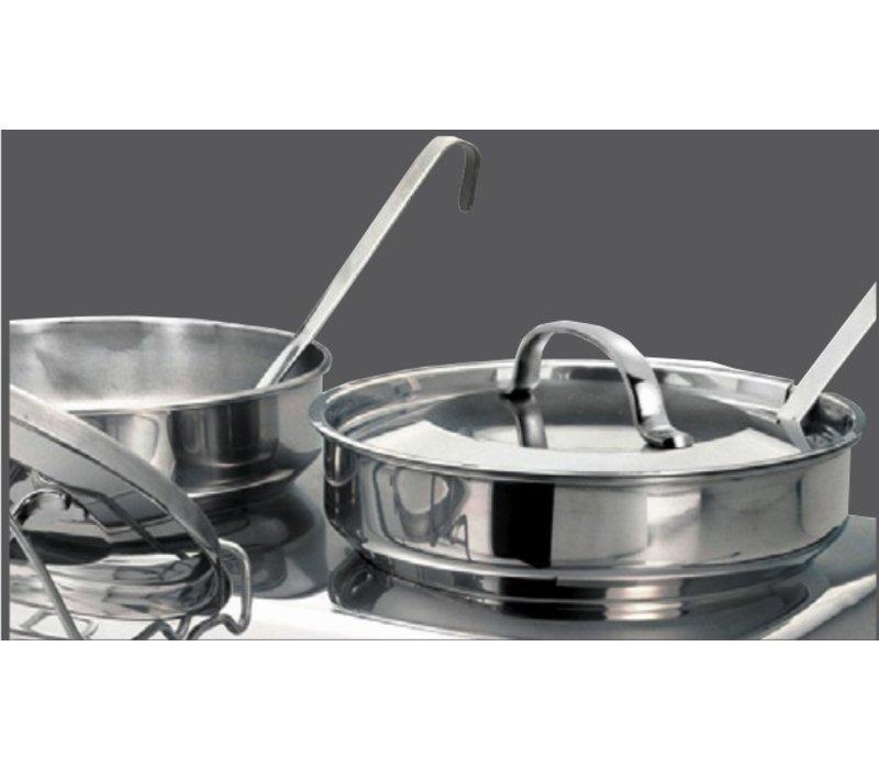 Bartscher Elektrische Soup Chafing Dish | Chromnickelstahl | Einschließlich 2x4 Liter Suppe Pans | 630x360x (H) 460mm