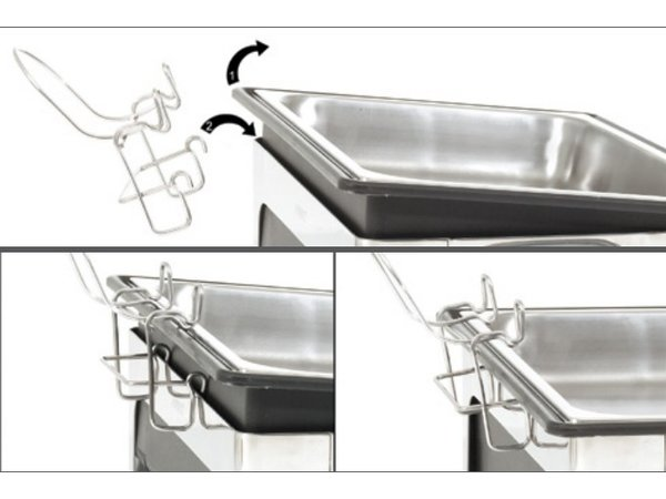 Bartscher Elektrische Soep Chafing Dish | Chroomnikkelstaal | Inclusief 2x4 Liter Soeppannen | 630x360x(H)460mm