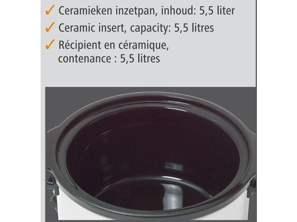 Bartscher Slow Cooker Around + Siebeinsatz Keramik - 5,5 Liter