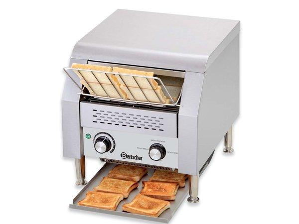 Bartscher Go through Toaster 150 slices per hour - RVS - 36,8x44x (H) 38,5cm - 2240W