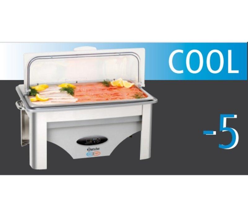 Bartscher Chafing Dish | Für heiße und kalte | 1/1 GN | Einstellbare -5 ° C bis + 75 ° C | 610x360x (H) 450mm