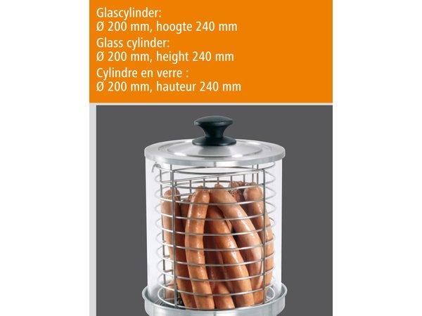 Bartscher Elektro Hot dog Herd - Zylinder - Ø200x240mm