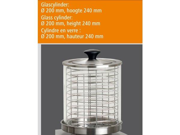 Bartscher Elektrische Hotdog Koker - 4 Verwarmingsstaven - Edelstaal - 500x285x(H)390mm