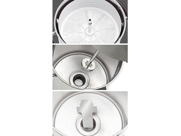 Bartscher Percolator RVS   Met Kopjesstandaard   Ø220x(H)545mm   72 Kopjes   9 Liter