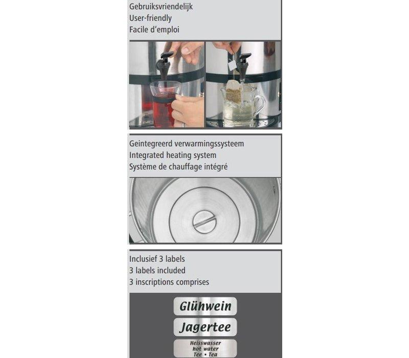 Bartscher Gluhweindispenser / Gluhwijn ketel | plus Tapkraan | Ø270mm | 20 liter