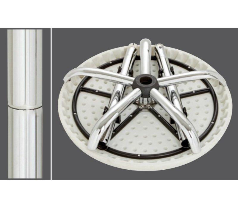 Bartscher Rund Stehtisch - Einstellbare 67,5 (h) cm bis 117 (h) cm - 70 cm Durchmesser - Höhe verstellbar und vollständig zusammenklappbarer