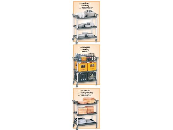 Bartscher Serving trolley - 3 blades - 830x415x (h) 940mm - 120Kg