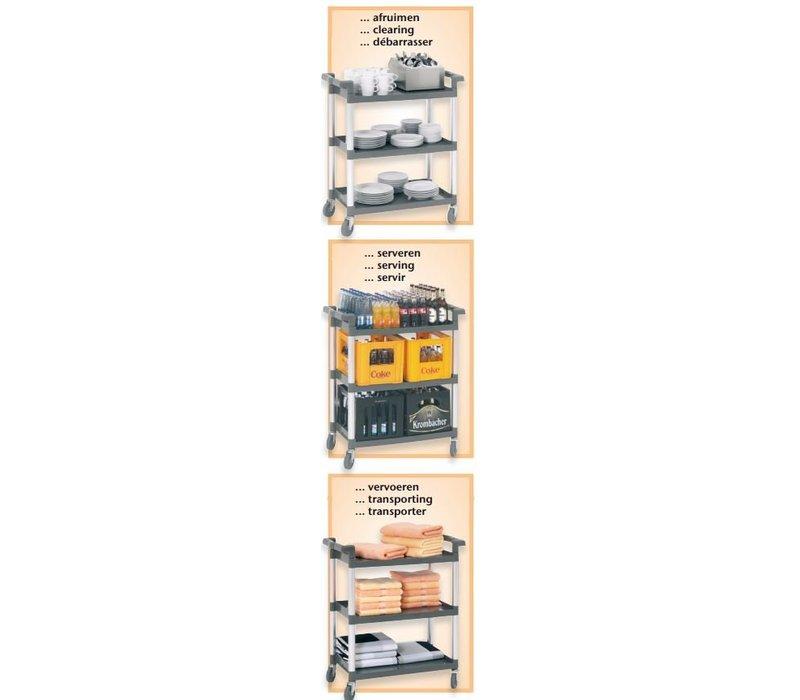 Bartscher Servierwagen - drei Klingen - 830x415x (h) 940mm - 120Kg