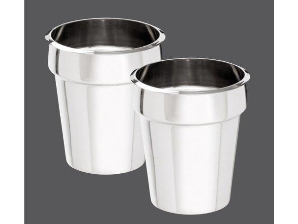 Bartscher Hotpot | Bain-Marie | 2x3,5 Liter | Edelstahl | 0,30kW | 415x210x (H) 320mm