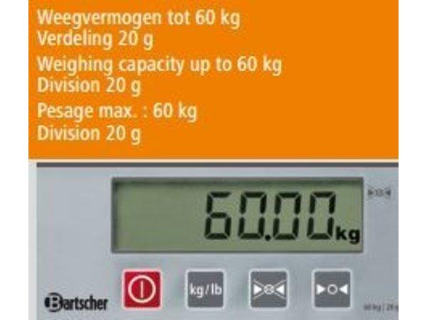 Bartscher Digitalwaage - max. 60 kg