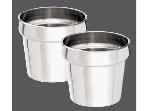 Bartscher Hotpot | Bain-Marie | Edelstahl | 2x6,5 Liter | 505x280x (H) 320mm
