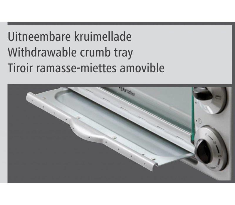 Bartscher Mini Fan oven - 425x380x295 (h) mm - incl. Accessories
