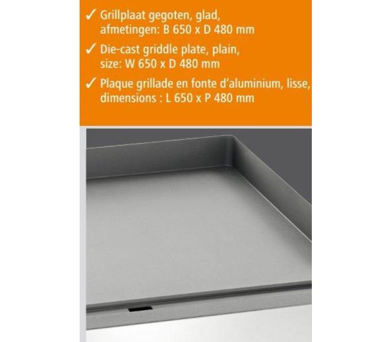 Bartscher Griddleplatte, TG, B660, glatt