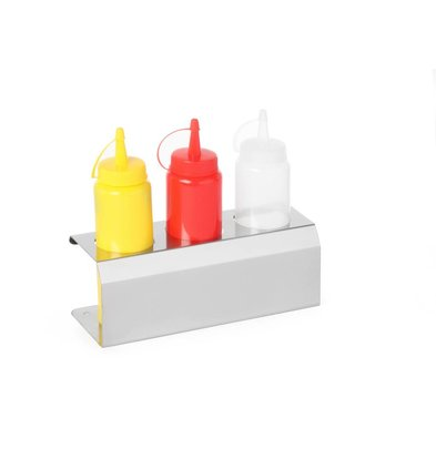 Hendi Saus Display RVS - voor 3x Dispenser Flacon 70 cl