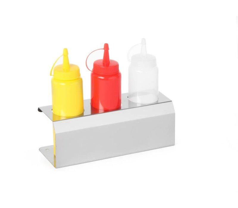 Hendi Saus Display RVS - voor 3x Dispenser Flacon 70 cl