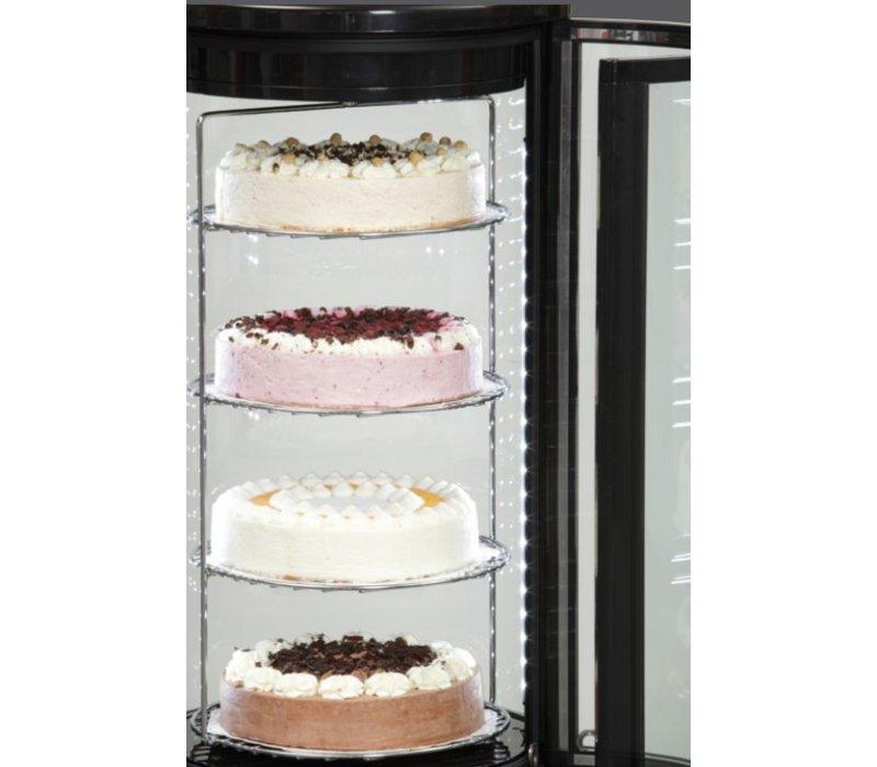 Bartscher Pastry Display Case - 72 Liters - 4 Floors - Ø 450 mm (H) 983 mm | rotating platforms