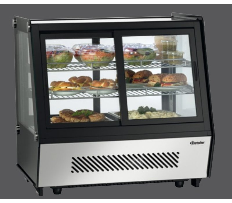 Bartscher Refrigerated display - 120 liters - 2 Silk Operable - 71x57x (h) 69cm