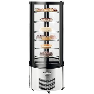 Bartscher Pastry Showcase Air-cooled | LED Lighting | 400 Liter | Ø680x (H) 1750mm