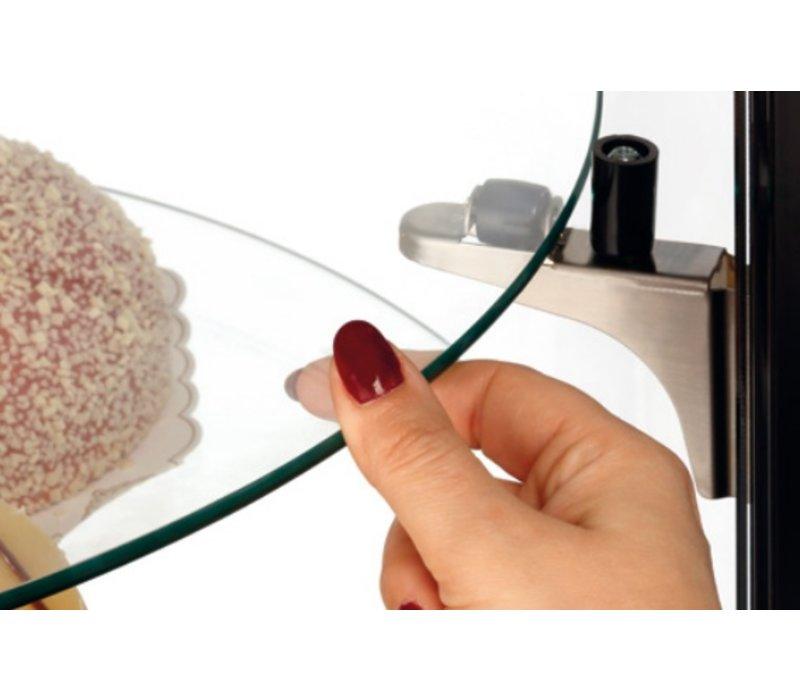 Bartscher Pastry Vitrine Luftgekühlte | LED-Beleuchtung | 400 Liter | Ø680x (H) 1750mm