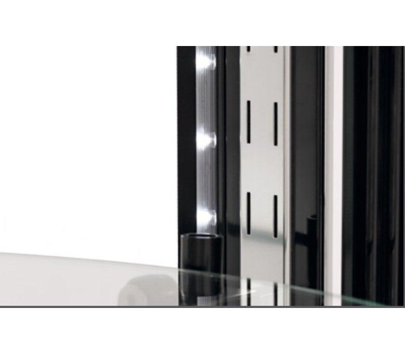 Bartscher Pastry Showcase Air-cooled   LED Lighting   400 Liter   Ø680x (H) 1750mm