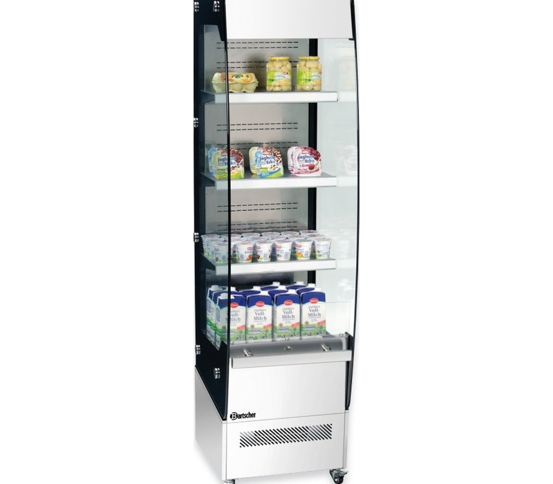 Bartscher Refrigerated display - Stainless steel - 220 liters - With Revealer