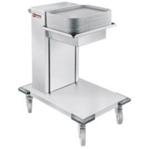 Diamond Universal Stainless steel tray stacker | On Wheels | 645x745x (H) 910mm | 50kg