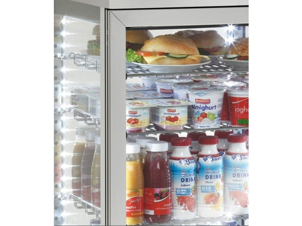 Bartscher Refrigerated display - Stainless steel -78 liters 3 chromed grilles