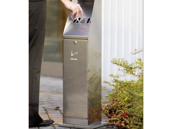 Bartscher Ständer Ascher | Rauchsäule | Leicht zu legen | 5,5 Liter | 240x240x (H) 870mm