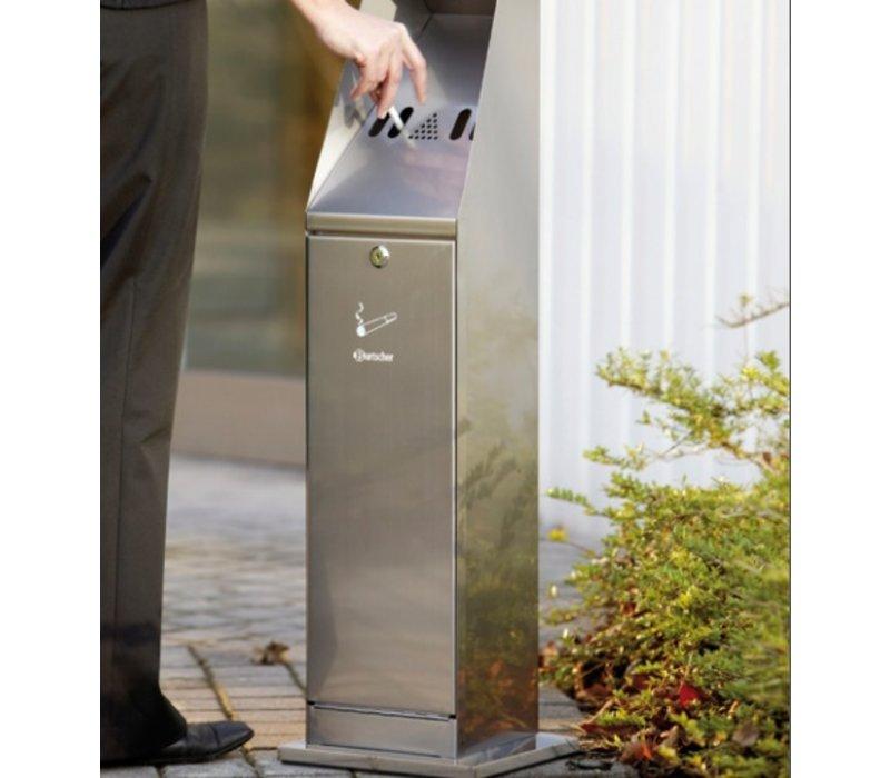 Bartscher Stand Ashtray | Smoke Column | Easy to Legen | 5.5 liter | 240x240x (H) 870mm