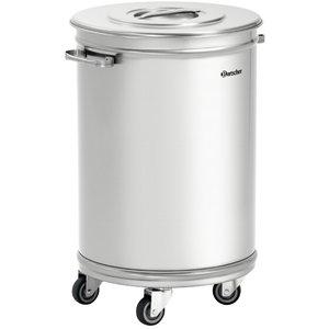 Bartscher Waste bin on wheels   56 Liter   460x400x (H) 620 / 723mm