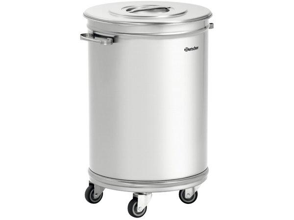 Bartscher Waste bin on wheels | 56 Liter | 460x400x (H) 620 / 723mm