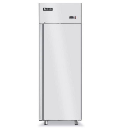 Hendi Forced refrigerator - Indoor / Outdoor stainless steel - Self-closing - 700 Litre / 2/1 GN - 730x845x (h) 2130mm