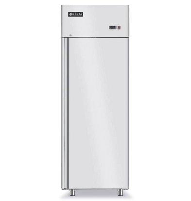 Hendi Koelkast Geforceerd - Binnen/Buiten RVS - Zelfsluitend - 700 Liter / 2/1 GN - 730x845x(h)2130mm