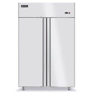 Hendi Kühlschrank 2 Türen Forced - Innen / Außen Edelstahl - Selbstschluss - 1300L / 2/1 GN - 1314x845x (h) 2100mm