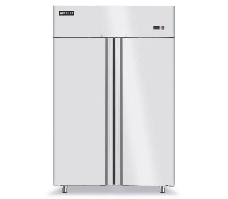 Hendi Refrigerator 2 Doors Forced - Indoor / Outdoor stainless steel - Self-closing - 1300L / 2/1 GN - 1314x845x (h) 2100mm