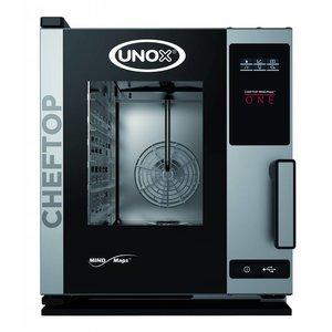Unox Kombidämpfer Ein Elektro Compact Combi Ofen | XECC-0523-E1R a | 5 x GN 2/3 | 230 | 535x662x649 (h) mm