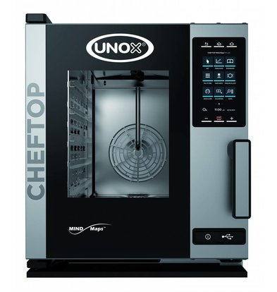 Unox Combisteamer Plus Electric Compact Combi Oven | XECC-0513-EPR 5 x GN 1/1 | 400V | 535x862x649 (h) mm