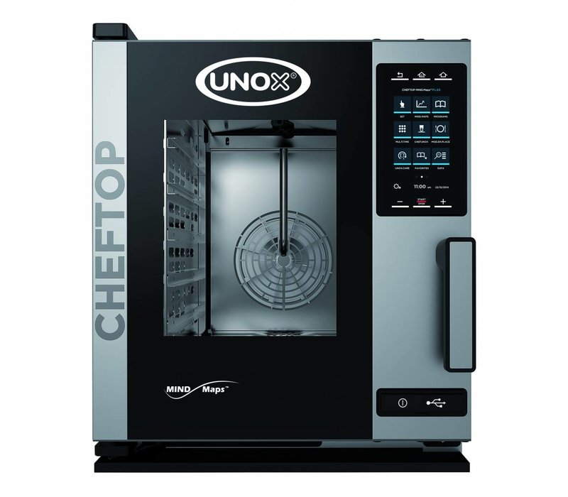 Unox Combisteamer Plus Electric Compact Combi Oven | XEVC-0511-EPR | 5 x GN 1/1 | 400V | 535x862x649(h)mm