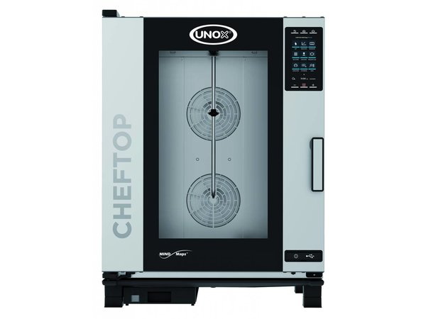 Unox Combisteamer Plus Electric Combi Oven | XEVC-1011-EPR | 10 x 1/1 GN | 400V | 750x773x1010 (h) mm