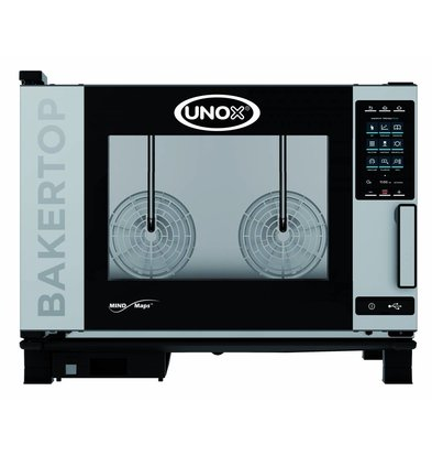 Unox Combisteamer Plus Electric Combi Oven | XEBC-04EU-EPR | 600x400mm x 4 | 400V | 860x957x675 (h) mm