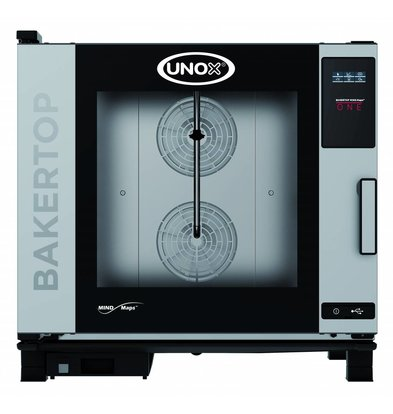 Unox Kombidämpfer Ein Elektro Combi Ofen | XEBC-06EU-E1R | 6 x 600x400mm | 400V | 860x957x843 (h) mm