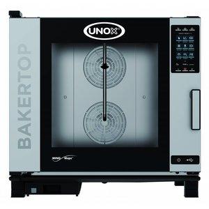 Unox Kombidämpfer Plus-Gas-Kombiherd | XEBC-06EU-GPR | 6 x 600x400mm | 860x957x843 (h) mm