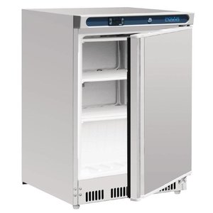 Polar Stainless steel Freezer - 60x60x (h) 85cm - 140 Liter