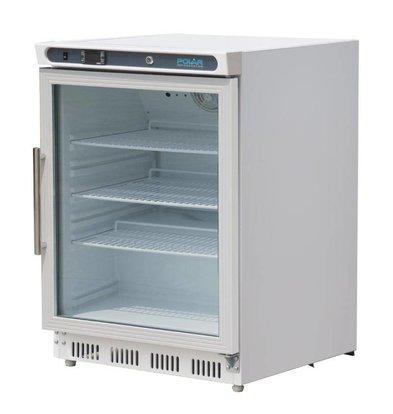 Polar Kühlschrank mit einer Glastür - 150 Liter - 60x60x (h) 85cm