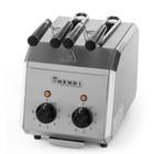 Hendi Tosti Apparaat HENDI 261163 - RVS - 2 Klems + Tijdklok & Controlelampje - 30x20x(H)22,3cm - 1200W