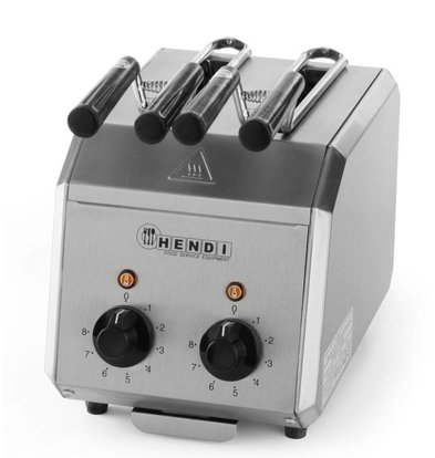 Hendi Sandwichtoaster HENDI 261 163 - SS - 2 Klems + Timer & Kontrollleuchte - 30x20x (H) 22,3cm - 1200W